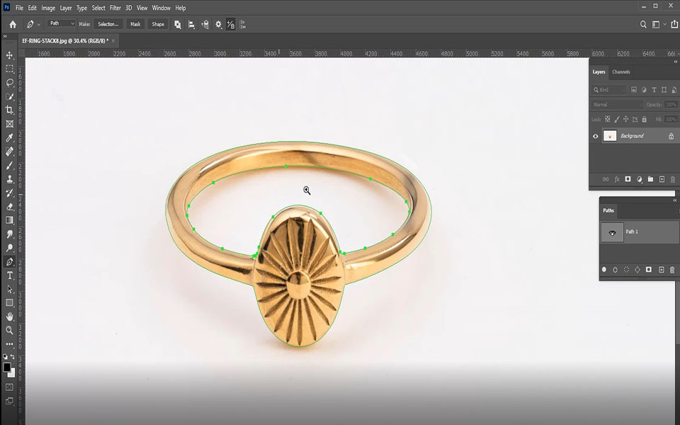 Draw a clipping path