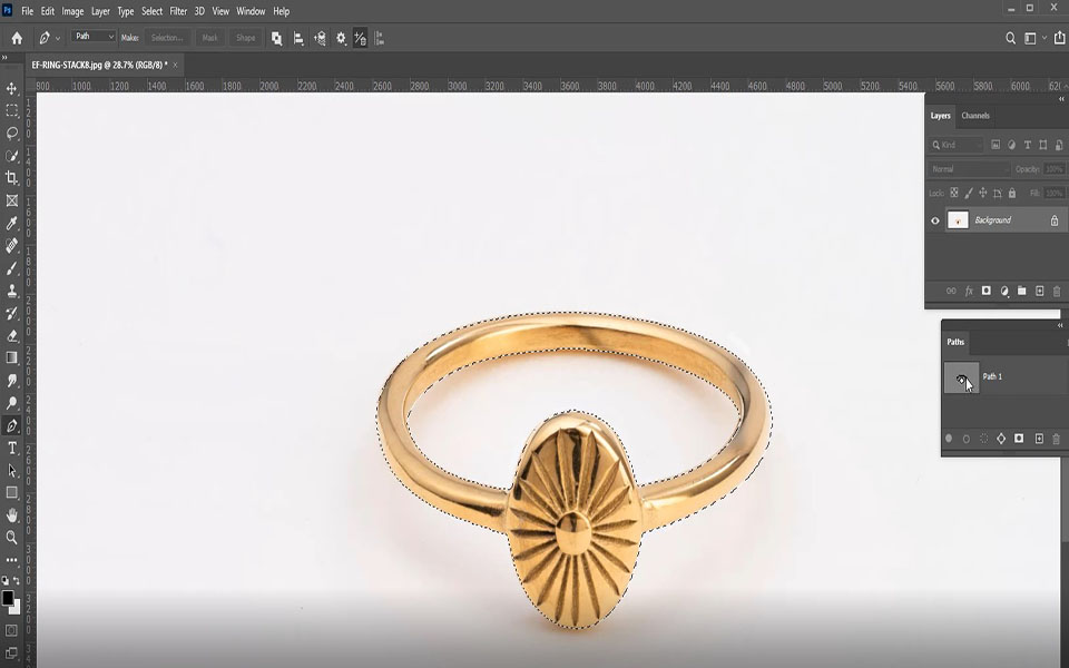 For selecting the clipping path